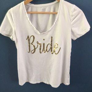 Handmade Bride V-Neck Shirt